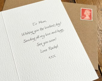 Print Message & Post Directly - CARD UPGRADE - Print your message inside any card and we'll post direct to recipient