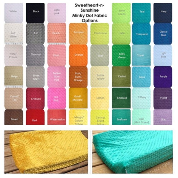 Minky Contoured Changing Pad Cover- YOU PICK COLOR