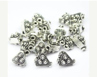 VALENTINE SALE 55% Triangle Strand Separator 2 hole Copper Finding Spacer Beads, Sold per 5 piece, CN96