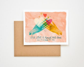 Your Love is Honest and True Congratulations Greeting Card