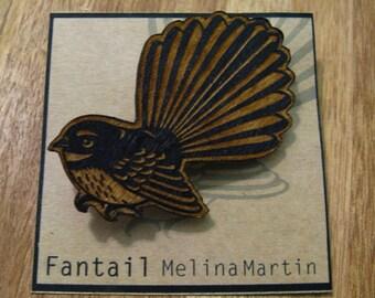 Fantail Brooch