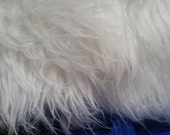 New White Shaggy Mongolian Faux Craft Size