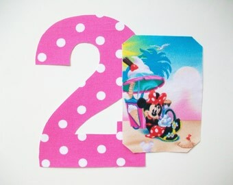 DIY No-Sew - Minnie Mouse Applique and Number - Iron On - Chose Your Number