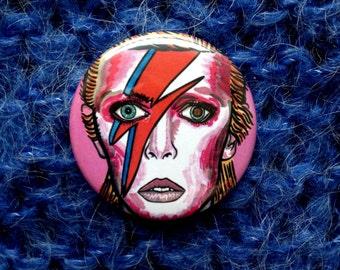 David Bowie Badge/pin 38mm