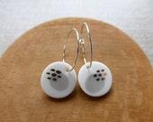 Pebble Inlay Hoop Earring...