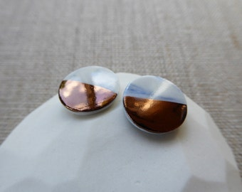 Copper Dip Round Stud Earrings since 2012