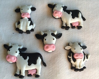 Mooove It! Magnets / Set of  Five Cow Magnets / Animal Magnets