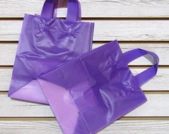 20 Pack Purple Soft Loop Handle Bags (8 x 10 in.) // BOUTIQUE CHIC //