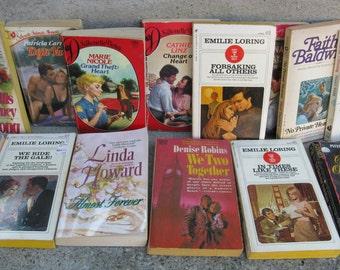 paperback romance novels 60's 70's 80's set of 18 vintage romance novels