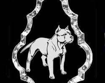 PitBull Terrier Dog Crystal Necklace Pendant Jewelry or Suncatcher Custom made with any Animal or Name YOU Want, Gift, Dog Lover, Handler,