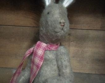 Bunny doll miniature primitive handmade