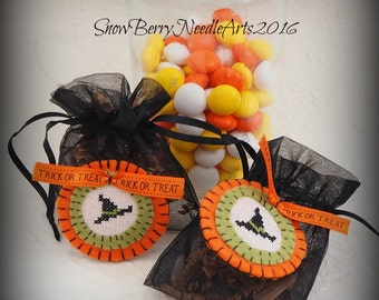 Witch Hat Halloween Treat Bag. Trick or Treat Party Favor Bag