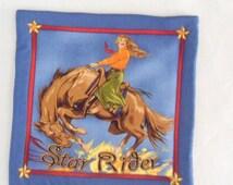 Fabric Hot Plate Cowgirl on Horseback Southwest Design Hot Pad