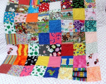 Baby Quilt Baby Girl Quilt Handmade Quilt Crib Quilt I Spy Patchwork Quilt Travel Size Pillowcase Gift for Baby