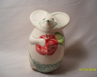 Too Cute Vintage Mouse Cheese Shaker Parmasean Table Cheese Container