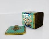 Vintage Tea Tin / Baret Ware Trinket Box / Biscuit Tin / Colorful graphic