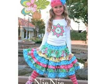 Summer Clearance The Nie Nie Skirt Pattern by Pink Fig Patterns