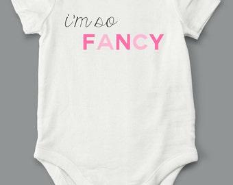 Fancy, Onesie, Pink, girls clothing, tops, shirt, bodysuit, clothing