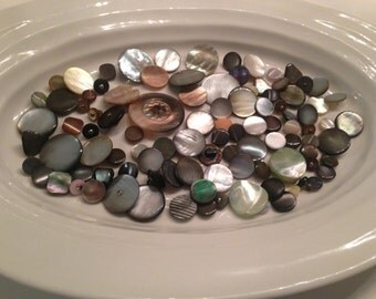 Shank Buttons - 100 assorted colourful shank mother of pearl buttons