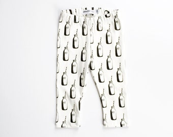 Organic MILK leggings / hipster baby clothes / leggings / toddler leggings milk leggings, baby leggings