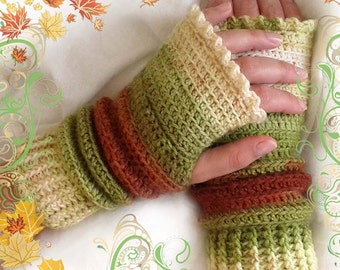 ZARA fingerless gloves crochet pattern - Gloves crochet pattern! Full of large pictures! Permission to sell finished items. Pattern No. 130