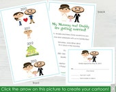 Wedding Story Invitations and RSVP Cards – Set of 10 – Create a Cartoon You!