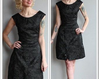 Sale 1960s Dress // Brocade Cocktail Dress // vintage 60s dress