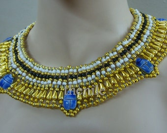 Egyptian-Queen-Cleopatra-Necklace-5-Scarab belly dance Mega Sale