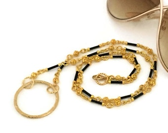 Gold Eyeglass Chains / Gold Eyeglass Holders / Gold Eyeglass Leashes / Gold Eyeglass Necklaces / Gold Eyeglass Lanyards