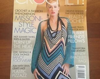 Crochet Magazine July 2006 magazine patterns Sandals Tops Halters Fashion Summer
