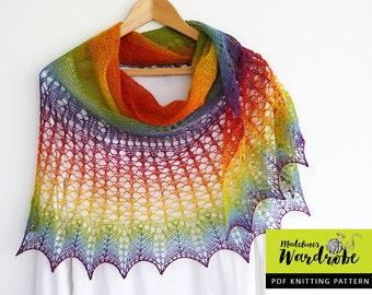 Lace shawl knitting pattern - Kyreneia Shawl