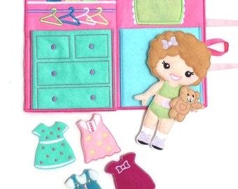 Felt Dress Up Doll, Dress Up Doll, Dress Up, Non Paper Doll,