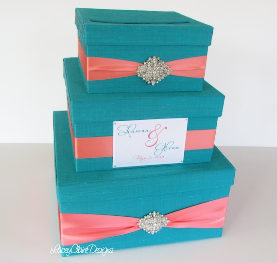 Wedding Reception Gift Card Holder : Wedding Gift Box, Card Box, Money Holder Envelope Reception Card Box ...