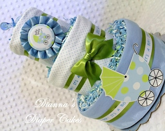 Baby Diaper Cake and 3 minis Shower Centerpieces