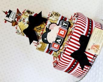 Baby Diaper Cake Pirates Shower Gift or Centerpiece Boys Girls