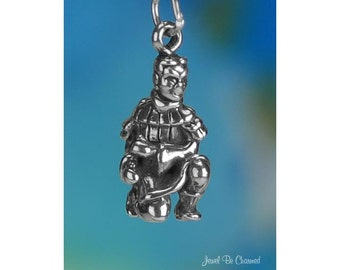 Sterling Silver Terracotta Warrior Charm Xian China Chinese Solid .925