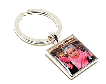 CUSTOM Photo Keychain. Create Your Own. Personalized Photo Image Keyring. Gifts For Grandpa. To Grandpa From Kids. Birthday Gift For Grandpa