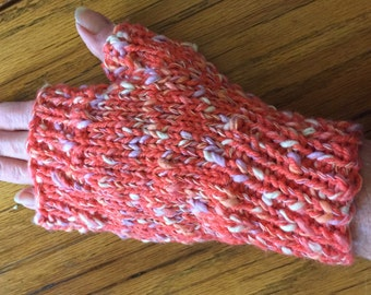 Tangerine dream fingerless gloves