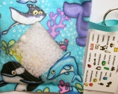 I Spy Bag Ocean Sealife Neutral themed contents girls boys eye spy busy bag, seek and find game, party favor, sensory occupational therapy