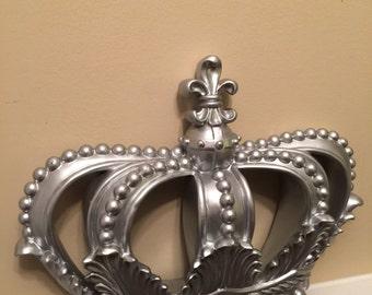 Superbe Crown/Silver Wall Decor/ Shabby Chic Decor/ Home And Garden Decor/Silver