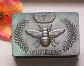 Queen bee multi shimmer soap glycerin black soap scented in Amber Woods