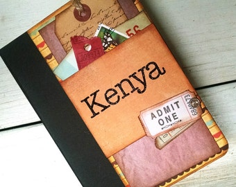 Custom Order Travel Journal Lined Pages Vacation Road Trip Honeymoon