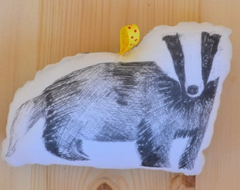 Blushful Badger Plush Rattle