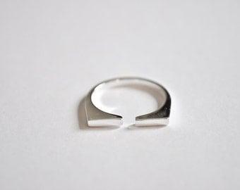 Sterling Silver Adjustable Modern Ring