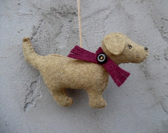 Golden Retriever Miniature Felt Decoration Hanging Ornament - Zoe