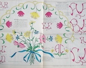 Vintage French Journal Embroidery Patterns Magazine alphabets Monograms Designs