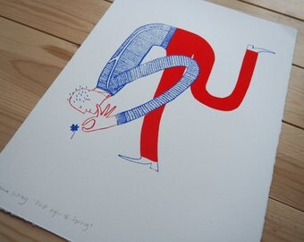 Limited edition of 100 hand pulled screen prints 'First sign of Spring'