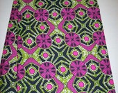 Pink and Olive Green Real Supreme Wax Holland African fabric by the yard/ Holland wax prints/ Supreme Holland fabrics