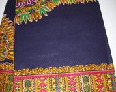 2 Yards Textured Navy Blue dashiki fabric per panel/ Dashiki Dress/ Angelina fabric/ Dashiki Skirt/ Dashiki panels/ Dashiki Shop
