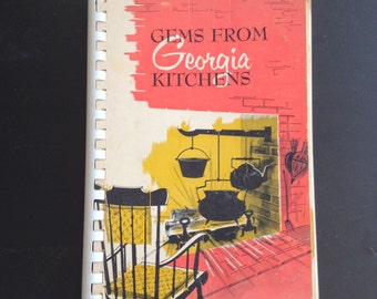 "Hard-to-find vintage cookbook, ""Gems from Georgia Kitchens,"" FIRST EDITION 1963, Garden Club Georgia, Deep South recipes, Southern cooking"
